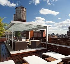 Tanning Lounge Chair Design Ideas Modern Roof Deck Outdoor Living Room Design Feature Dark Brown