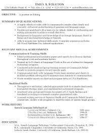 Resume Examples Summary by Functional Resume Example For Editing Susan Ireland
