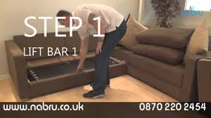 NabruSofas How Our Sofa Beds Work YouTube - Sofa bed assembly
