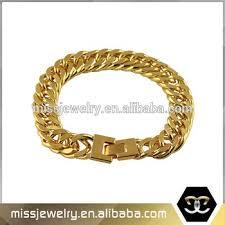 mens gold bracelet links images Hip hop mens 18k gold plated miami cuban link bracelet buy gold jpg
