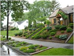 Sloping Backyard Ideas Backyards Cozy Landscaping For Sloped Front Yard With Steps 144