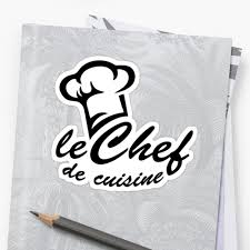 stickers de cuisine le chef de cuisine cook hat cooking kitchen stickers by