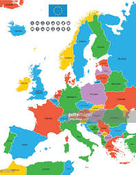 Map If Europe Detailed Vector Map Of Europe Vector Art Getty Images