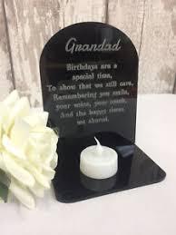memorial tea light candle holder grandad birthday memorial tea light candle holder 3d plaque with