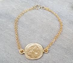 bracelet pendant images Gold coin bracelet gold bracelet chain bracelet stackable jpg