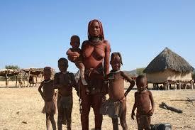 himba woman and family himba people wikipedia braids