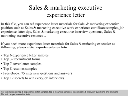 Marketing Executive Resume Sample by Sample Cv Sales And Marketing Manager