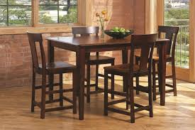 Wood Dining Chairs Anniversary Ii 5 Piece Solid Wood Dining Set Includes Counter