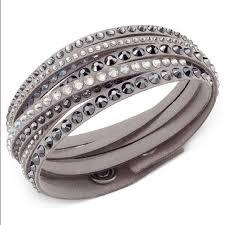 leather bracelet swarovski images Swarovski jewelry slake deluxe crystal stud wrap bracelet poshmark jpg