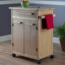 winsome basics kitchen cart with wooden top u0026 reviews wayfair