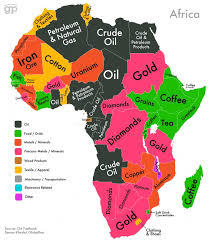 africa map labeled countries this map shows which export makes your country the most money