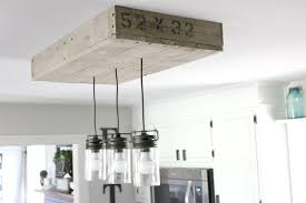 pallet light box for your kitchen island noting grace