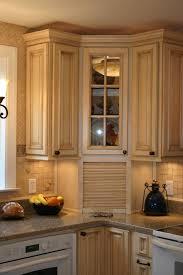 travertine countertops corner kitchen cabinet storage lighting