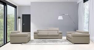 casa atlantis modern light grey bonded leather sofa set