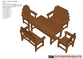 Free Plans For Outdoor Wooden Chairs by Home Garden Plans Gt101 Garden Teak Table Plans Out Door