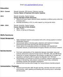 It Resume Example 2014 by It Resume Format It Resume Format Template 7 Free Word Pdf