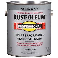 shop rust oleum professional gray gloss oil based enamel interior
