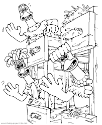 coloring page of a chicken chicken run color page coloring pages for kids cartoon