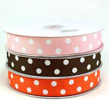 polka dot grosgrain ribbon maple craft polka dot grosgrain ribbons 7 8 spool of 50 yards