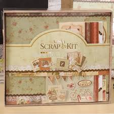 scrapbook albums 8 x 8 vintage leisure photo scrapbook album kit diy