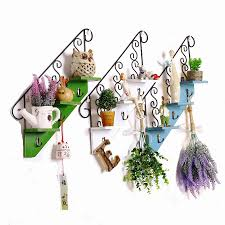 wall hanger staircase shape wall hook flower pot shelf cabide coat