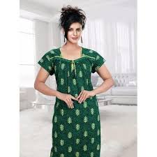 ladies cotton night gown at rs 300 piece s cotton nightgown