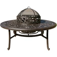 Patio Furniture Fire Pit Set - darlee elisabeth 5 piece cast aluminum patio fire pit conversation