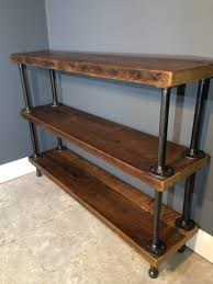 reclaimed wood shelf shelving unit fast shipping hand made
