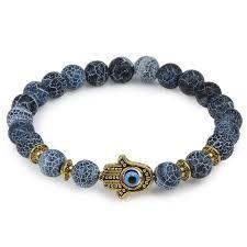 evil eye hand bracelet images Owl leopard lion head buddha beads bracelet charm elastic evil eye jpg