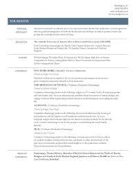 Resume Packet Tori Boutin Dramaturgy Resume