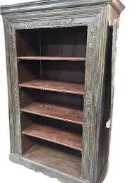 antique indian bookcase hand carved book shelf furniture