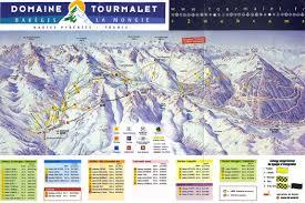 La Airport Map Domaine Tourmalet Piste Map