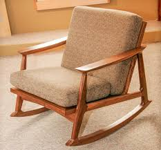 Mid Century Modern Danish Chair Wood Furniture Oak Wood Target Rocking Chair With Cushions For