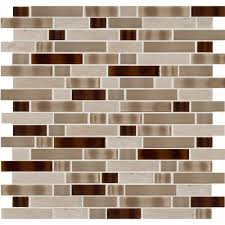 instant mosaic peel and stick glass stone metal wall tile 3 in
