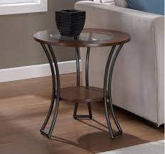 table attractive small end table with storage round glass top