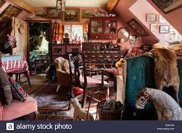 Cluttered House Cluttered Cottage Living Room Full Of Antique Furniture Artwork