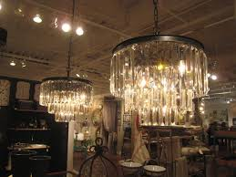 1920 s odeon deco style glass fringe crystal 3 ring chandelier transitional