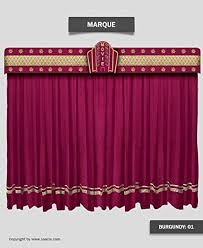 Burgundy Velvet Curtains Saaria Marquee Home Theater Decorative Burgundy