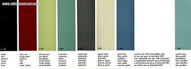 volkswagen vw colours for 1961 u0026 1962