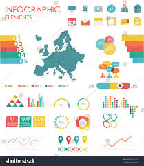 Modern Europe Map by Vector Map Europe Illustration Infographics Design Stock Vector