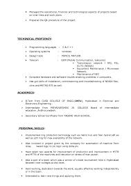 Project Manager Resume Description Best Solutions Of Telecom Project Manager Resume Sample On