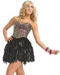 another black favorite jovani corset with feathers my
