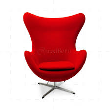 arne jacobsen style egg cashmere wool chair red replica