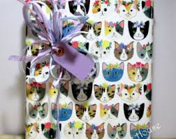 cat wrapping paper cat wrapping paper etsy