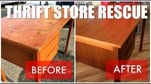 how to refinish a desk thrift store rescue teak desk refinish youtube