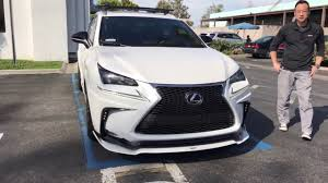 lexus nx f sport kit highly modified lexus nx 200t awd f sport with apex i exhaust