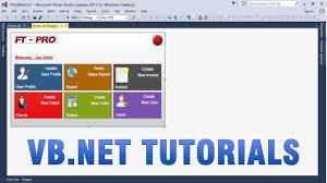 vb net tutorials create custom professional ui in winforms app