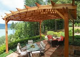 Wood For Pergola by Charming Ideas Best Wood For Pergola Fetching Best Wood For