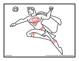 draw superman art kids hub