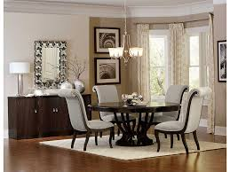 espresso dining table with leaf contemporary espresso round pedestal leaf dining set shop for